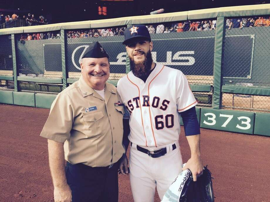 Galveston County's own, Constable Clint Wayne Brown, Pct.2, was a one of the U.S. military service members honored to carry the U.S. flag onto the field while Clay Walker sang the National Anthem at the Houston Astros home opener.