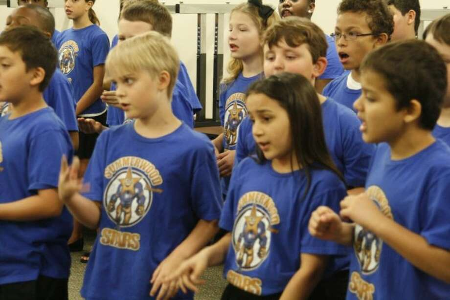 Consisting of almost 80 members, the Summerwood Elementary School Choir continues to grow year.