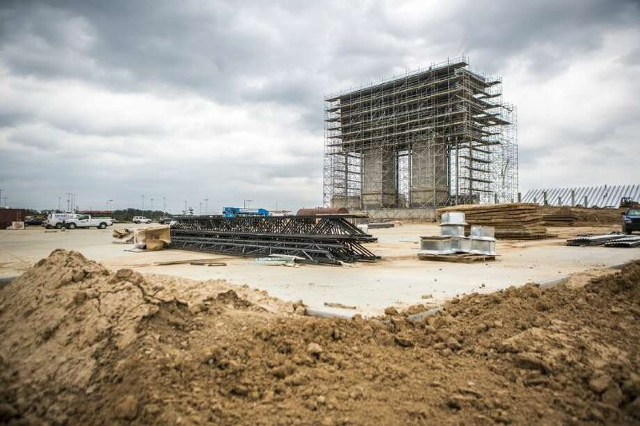 The New Caney ISD Stadium begins to take shape. The $20 million stadium is set to open in August of 2014. Photo: ANDREW BUCKLEY