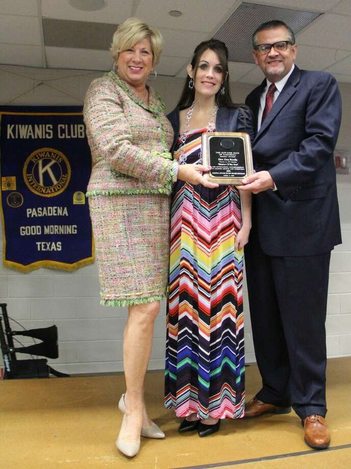 Don Nordin, lead pastor of CT Church was honored as the Distinguished 2015 Minister of the Year at the Kiwanis Club Annual Mayor's Prayer Breakfast held Thursday (April 2). Pictured from left: Judge Molly Maness-Smith, Nikki Hurley, Paster Don Nordin of CT Church. Photo: Kristi Nix