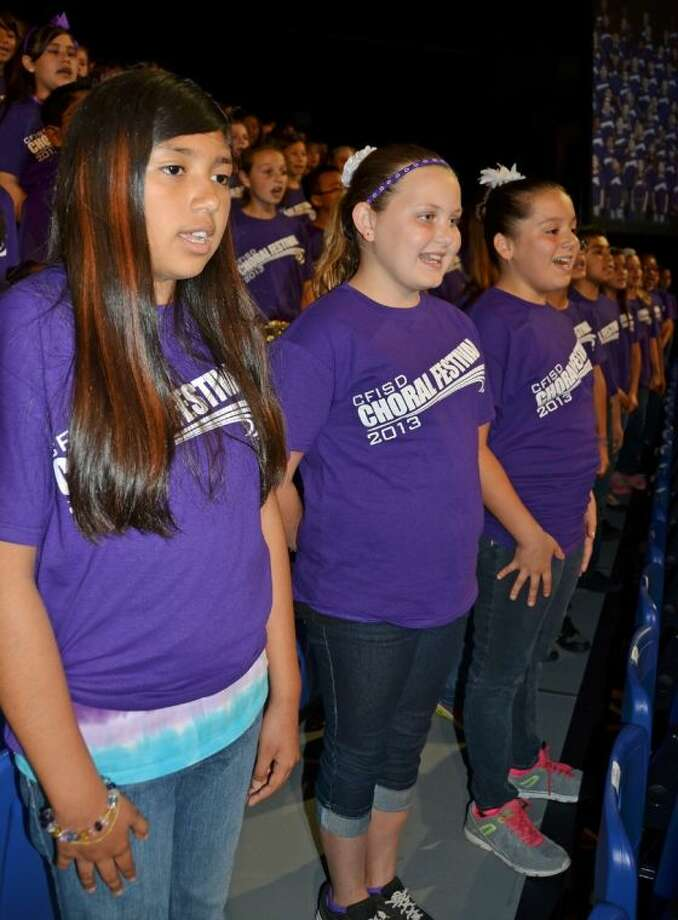 CFISD fifth-grade students participate in the CFISD Choral Festival 2013. The 2014 festival is set for Thursday at 7 p.m. Photo: Submitted Photo