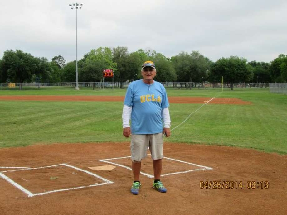 Coach Dan Bowyer on the baseball field in Deer Park, where he will be honored on May 10. Photo: Erica Drexler/Broadcaster