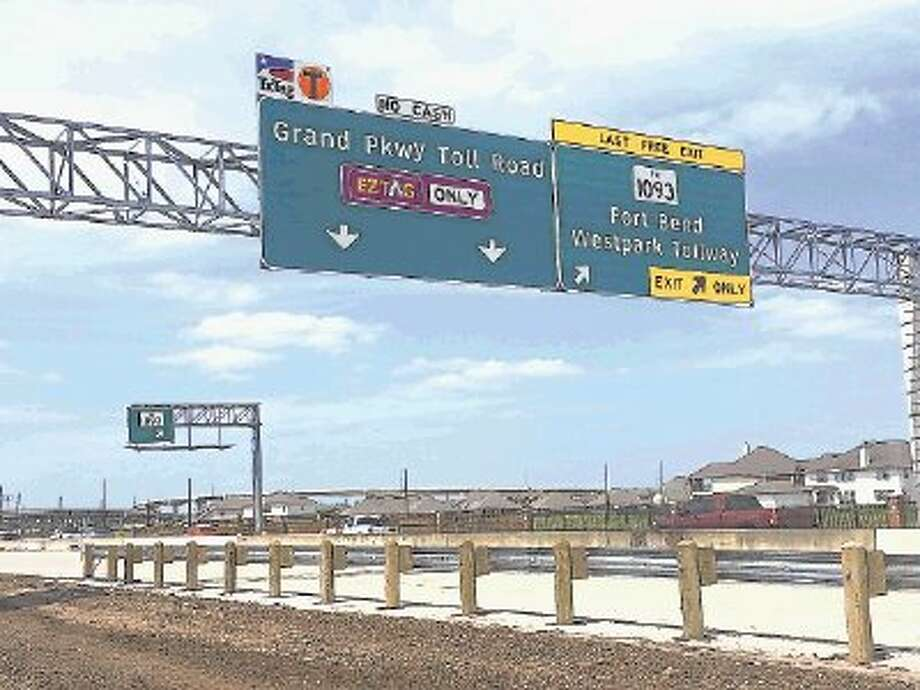 Segment D of the Grand Parkway Toll Road, shortly after the ribbon-cutting ceremony that marked its grand opening Friday, April 11. / @WireImgId=2671525