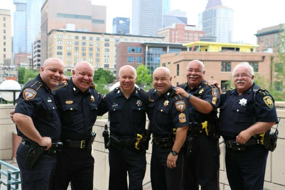 Five of the Thomases proudly wear the Harris County Sheriff's Office uniform: James (deputy), Jeff (sergeant), David (deputy), Mike (sergeant), and Doug (sergeant). The oldest brother, Danny, used to wear the HCSO uniform before switching it for Constable Precinct 1 attire, where he has served as a deputy since 2004.