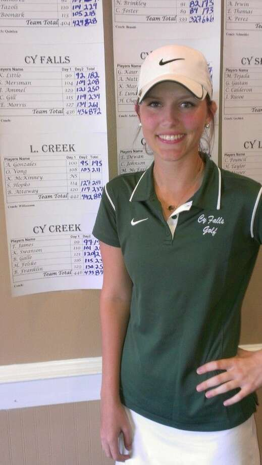 Cypress Falls senior golfer Karlee Little qualified for regionals for the third consecutive year with a two-day score of 182 (90-92) at the district tournament.