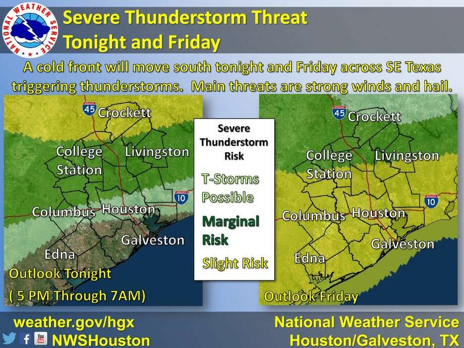 Slight risk of severe thunderstorms coming
