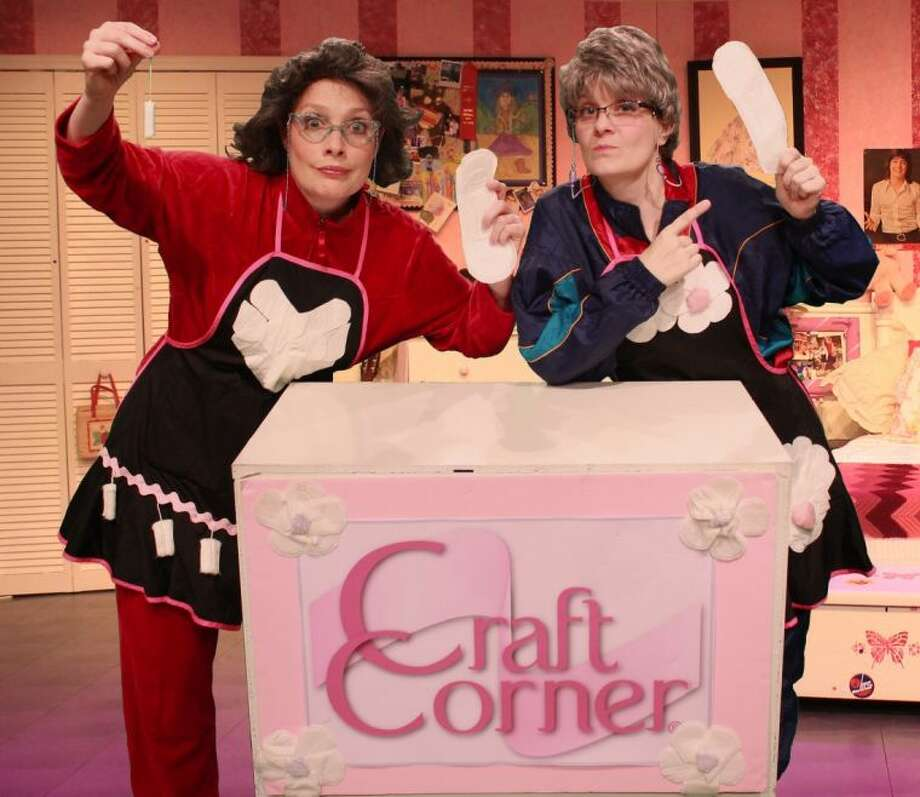 """Tracy Aherns plays one the the """"Girls"""" in """"Girls Only - The Secret Comedy of Women."""" She said her favorite sketch in the show is called """"Craft Corner"""" where the post-menopausal women create craft projects from left over feminine hygiene products. Photo: Art Ornelas"""