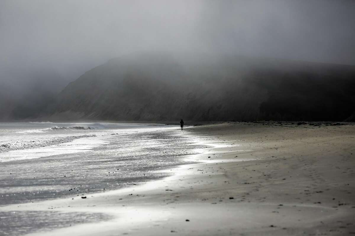 A view of Drakes beach can be seen as the fog rolls in, in Inverness, California, on Tuesday, September 27, 2016.