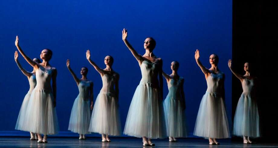 Houston Ballet II and students in the all-day professional training division in the Academy upper school, will also perform Allegro Brilliante, a fast-paced piece that requires strong dancing and precise timing, Les Jeunes Hommes and also Welch's The Ladies, created for Houston Ballet's 2010 Jubilee of Dance and will be conducted by Moores School of Music student Michelle Blair who makes her debut conducting under the tutelage of Maestro Franz Anton Krager. Photo: Amitava Sarkar