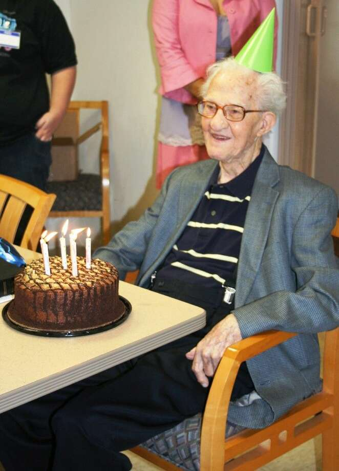 John Wuensche celebrated his 98th birthday with a birthday party at the River of Life center on April 8. Photo: Stephanie Buckner