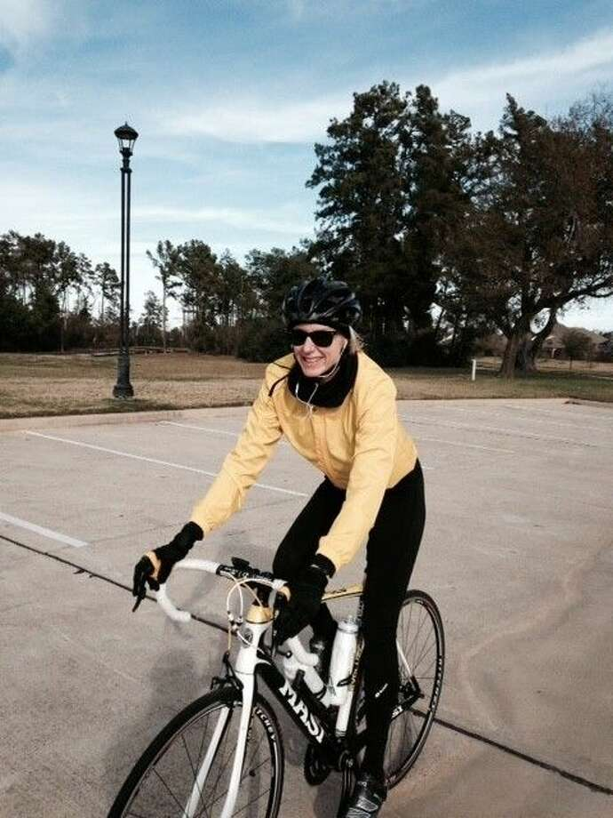 Kyle Boston is geared up to ride in the annual BP MS 150 bike race from Houston to Austin.