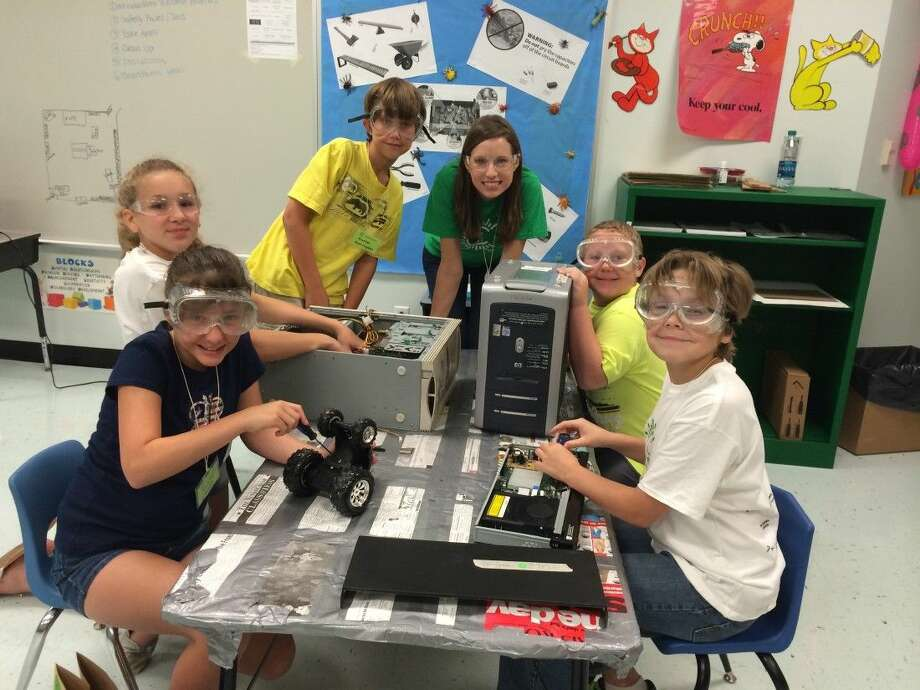 Liberty ISD will host Camp Invention on the week starting July 6. Pictured are some of the students who attended last year's camp. They are Natalie Wages, Emily Connelly, Hunter Harrington, Lauren Little, Clay Jones and Logan Smart. Photo: Submitted