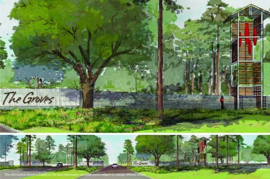 Crescent Communities, the developer of The Groves, wanted to implement a unique timber harvest project at The Groves in order to re-purpose the trees into another project in order for them to not go to waste. They will re-purpose some of the trees that have been and will be cut down from the land and use them from various projects in the master-planned community.
