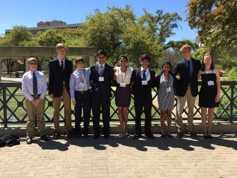 Eight Friendswood High School science students successfully participated in the Exxon-Mobil Texas Science and Engineering Fair March 26-29 in SanAntonio. Participants included Joshua Gruener, Kevin Westerfeld, Blake Propst, Karan Jerath, Shanika Silva, Aditya Mohile, Neha Narayan, Mackinnon Westerfeld and Sarah Palmer.