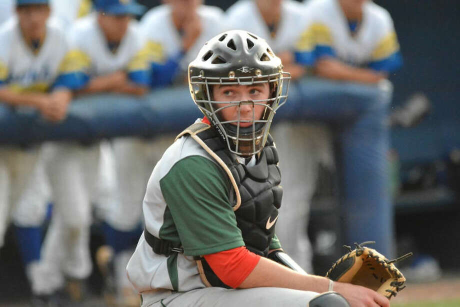 The Woodlands catcher Max Conway hit the go-ahead, two-run home run for the Highlanders in an 8-6 victory over Klein on Thursday night. Photo: Photo By Randy Almaguer