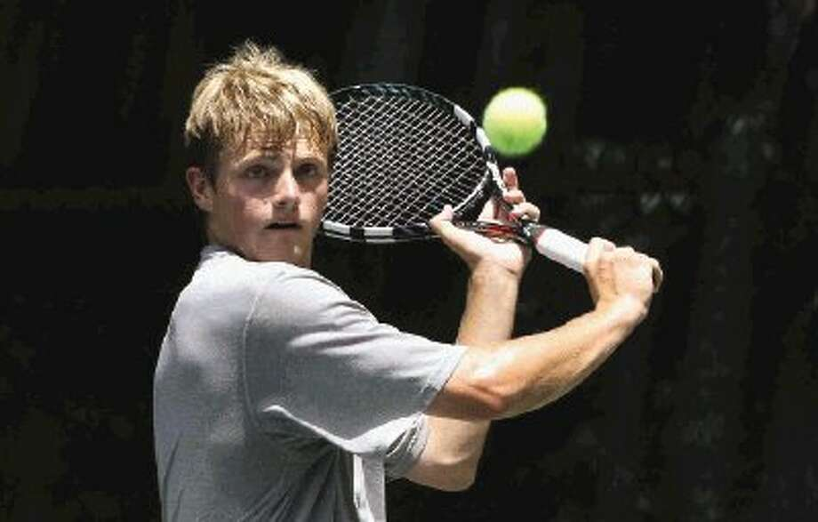 Johann Kurfurst, of Conroe, finished second in the boys 18-under Champs singles bracket on Sunday in the 35th annual Woodlands Clay Court Championships. / Conroe Courier