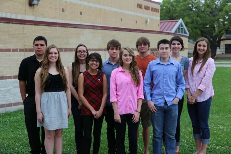 Pictured are the top 10 students from Alvin High School: Back Row Left to Right: Joseph Watson, Kathleen Nelson, Jeremy Lupardus, Joseph Kartye, Stacey Gardner, Meagan GrahamFront Row Left to Right: Crystal Porter, Madelyn Keyes, Taylor Lupardus, John Griffith