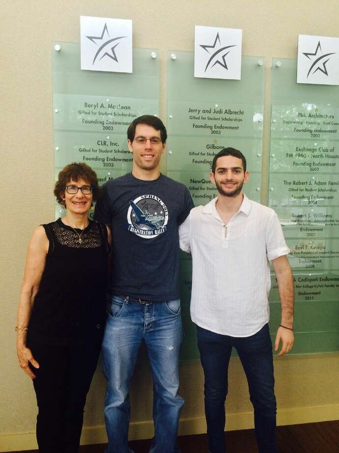 From left are Elise Sheppard-young adult librarian and professor, Yahael Goldsten-Israeli engineering student, and Niv Prager- member of the Jewish Agency Young Shaliach Program.