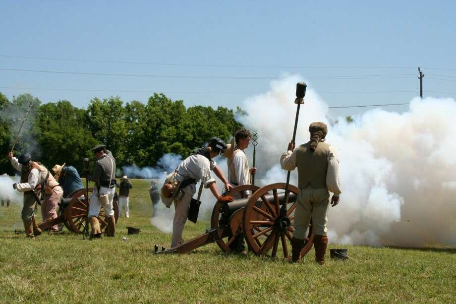 The largest battle reenactment in the state is the centerpiece of the admission-free San Jacinto Day Festival, held on Saturday, April 18, from 10 a.m. to 6 p.m. on the grounds surrounding the San Jacinto Monument. The reenactment recreates the events leading up to Texas winning its independence from Mexico 179 years ago at the decisive Battle of San Jacinto on April 21, 1836.
