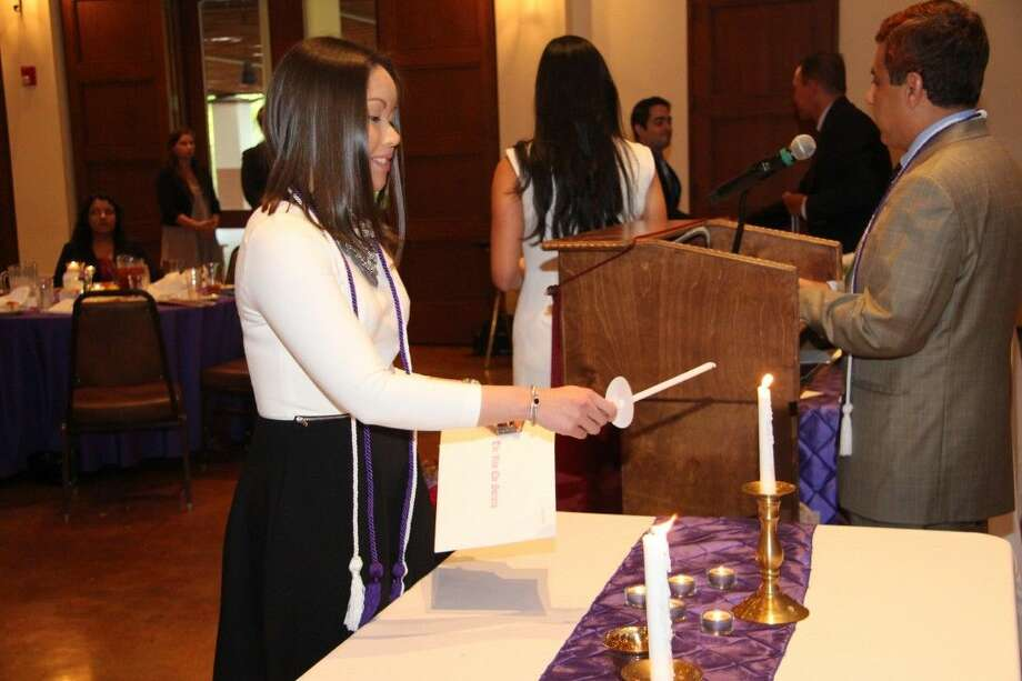 Texas A&M pharmacy student Monica Pham of Pearland, Texas, was inducted into The Rho Chi Honor Society, which gives professional recognition in the field of pharmacy to students for academic excellence.