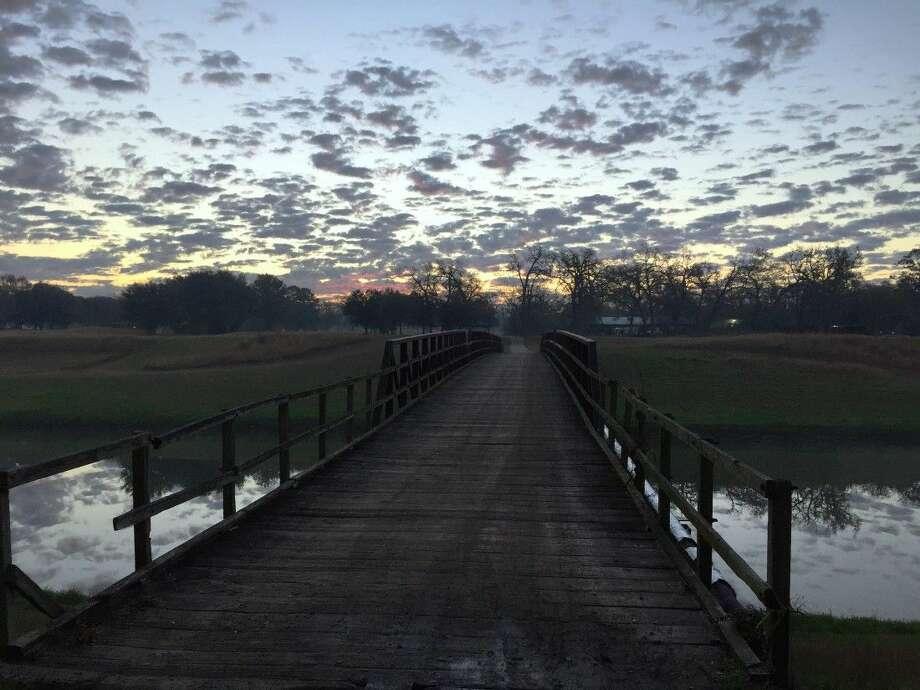 View of bayou bridge at future Houston Botanic Garden site. Courtesy of Houston Botanic Garden.