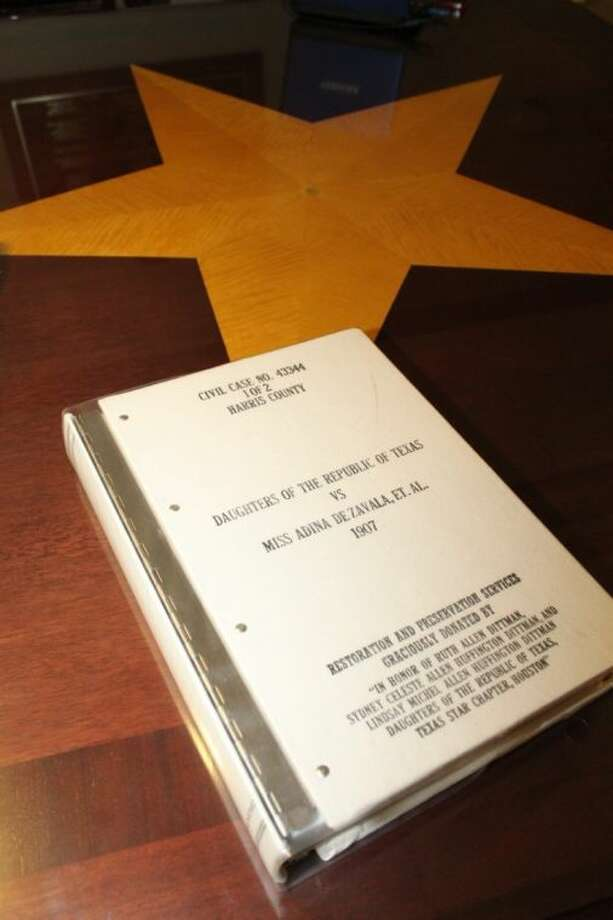 "The case history of the ""Second Battle of the Alamo"" can be found in the Harris County District Clerk's historical documents room. Photo: Submitted"