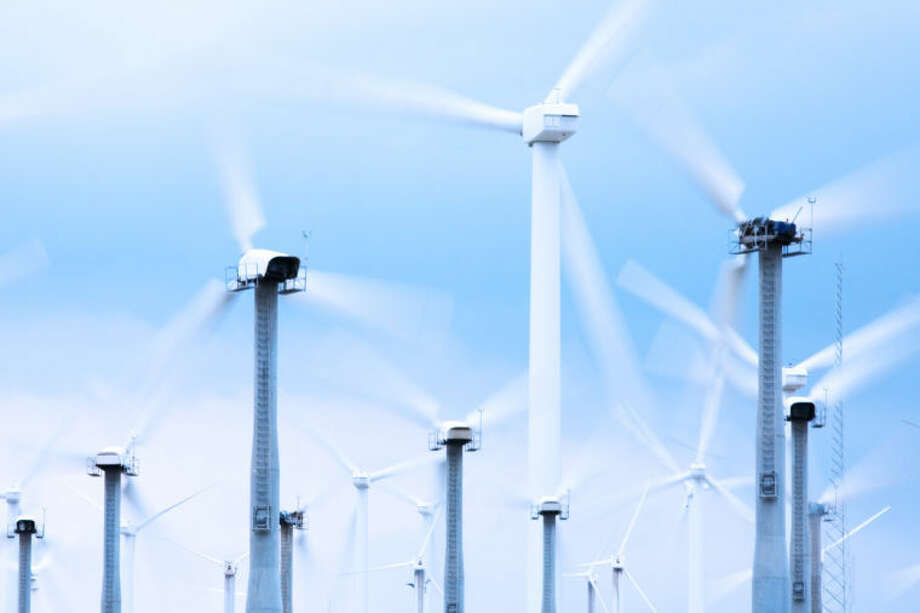 Wind Turbines --- Image by © Royalty-Free/Corbis Photo: © Royalty-Free/Corbis