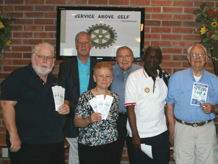 Members of the Bellaire/Southwest Houston Rotary Club invite the community out for an evening of family fun during the club's 57th annual Spring Fest on May 10. Eager to sell tickets are, from left, Rotarians Ole Donaho, Ed Seale, Jeanne Noxon, Keith Lovelace, Surpris Cherazard, and David Fox.
