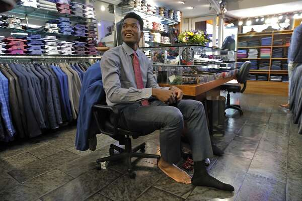 97c8a8a295db8 Where does a 7-foot Warriors rookie find a suit that fits ...
