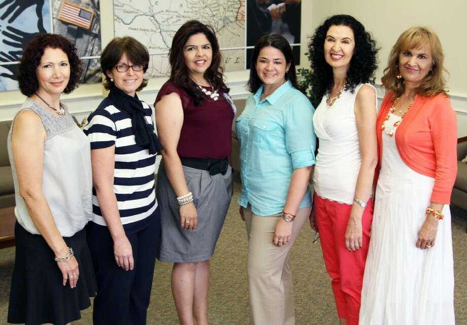 Tomball ISD dual language teachers recognized by the Dual Language Training Institute as exemplary teachers included (from left) Laura Garcia-Marquez, Maite Robinson, Myrna Calderón, Carmen Parra, Luz Lovett, and Arcilia Hudgins. Not photographed, Paloma Moreno.