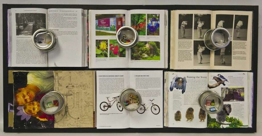 """""""Tresure Chest"""" is a mixed media projects that incorporates different objects to create a theme. Linda Dixon, the artist, dedicated the piece to her late father, but illustrating the different ways he made an impact on her life."""
