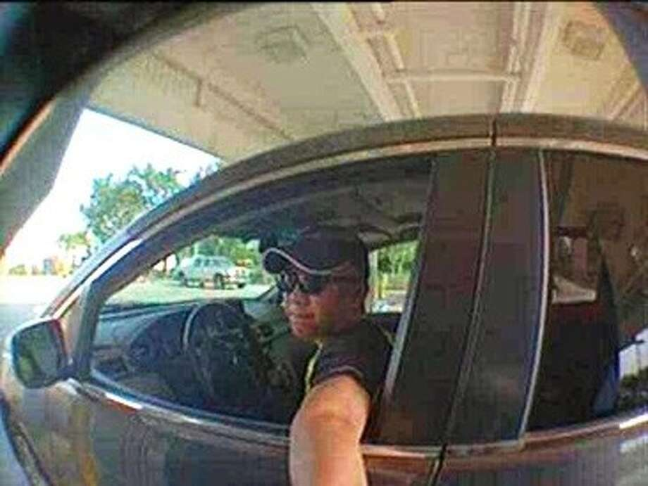 """The Pearland Police Department is seeking the public's help to identify the suspect who used a """"skimming device"""" to capture both the debit card information and Personal Identification Number (PIN) during the victims' legitimate transactions at a local fuel station. This information was then used to create """"clone"""" debit cards and make fraudulent cash withdrawals from the users' accounts. Photo: Courtesy Pearland Police"""