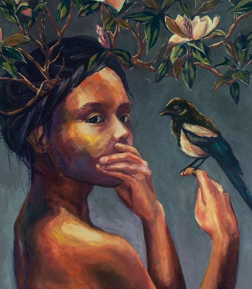 """Dawson High School student Yixin He's artwork """"Swallow Your Bitterness"""" won a national gold medal in the Scholastic Art & Writing Awards 2015."""