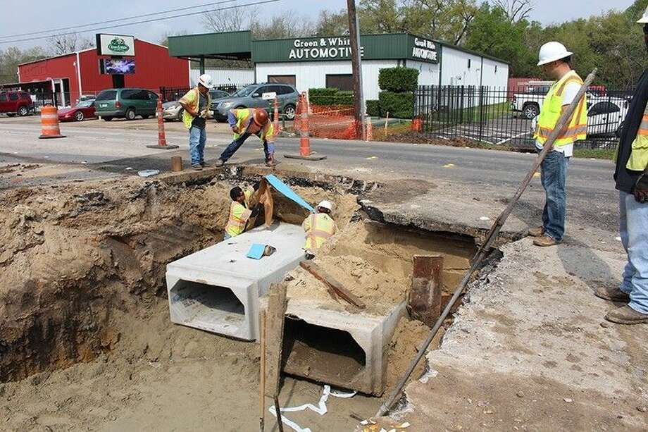 Crews add a new sewer system to Spring Cypress as part of a complete renovation and expansion project. Photo: Submitted