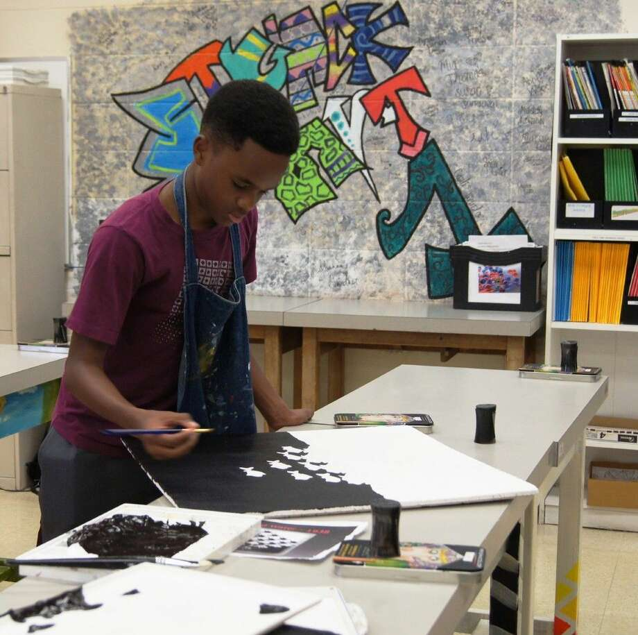 Strack's Kamar Washington, won third place in the Div. 2 Pearl Fincher Museum of Fine Arts juried Student Art Contest. He along other Klein ISD students will be recognized during a reception on April 19. Photo: KISD