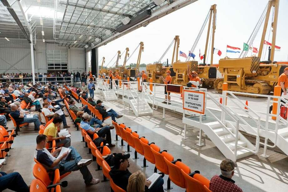 Ritchie Bros., the world's largest industrial auctioneer, sold more than $57 million of equipment and trucks at its unreserved public auction in Houston April 15 - 16, 2015. Photo: Chris Covatta