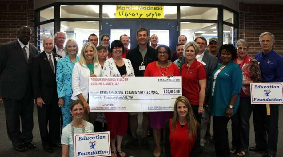 A Lead the Spark grant is celebrated by staff at Bernshausen Elementary School. Photo: Submitted Photo