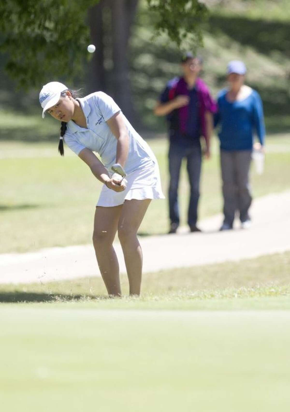 Clements' Mindy Nguyen competes during the second day of the Class 5A UIL State Golf Championships April 29 at Onion Creek Golf Club in Austin.