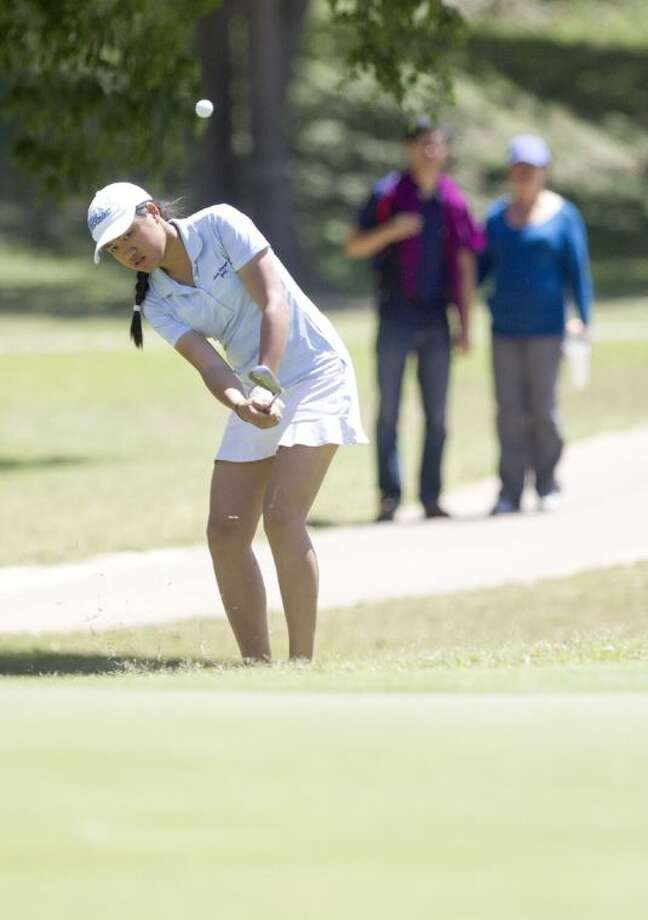 Clements' Mindy Nguyen competes during the second day of the Class 5A UIL State Golf Championships April 29 at Onion Creek Golf Club in Austin. Photo: Jason Fochtman