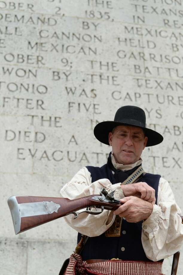 Gary Abels relives Texas history every year as a member of the Texian Army in the annual San Jacinto Festival and Battle Re-enactment.