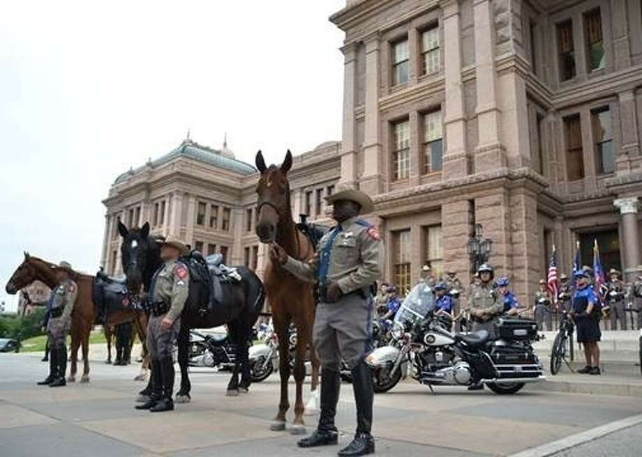 The Texas Department of Public Safety has a mounted patrol at the Capitol building in Austin. The mounted patrol program was launched Tuesday, May 6. Photo: Submitted Photo