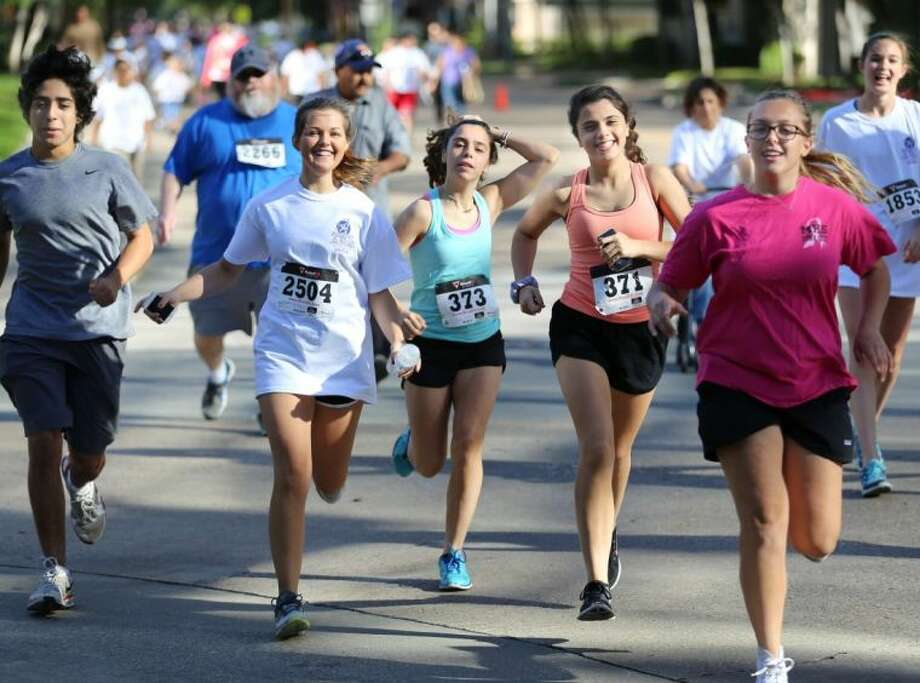 Students of all ages participate Saturday at Running for the Arts.