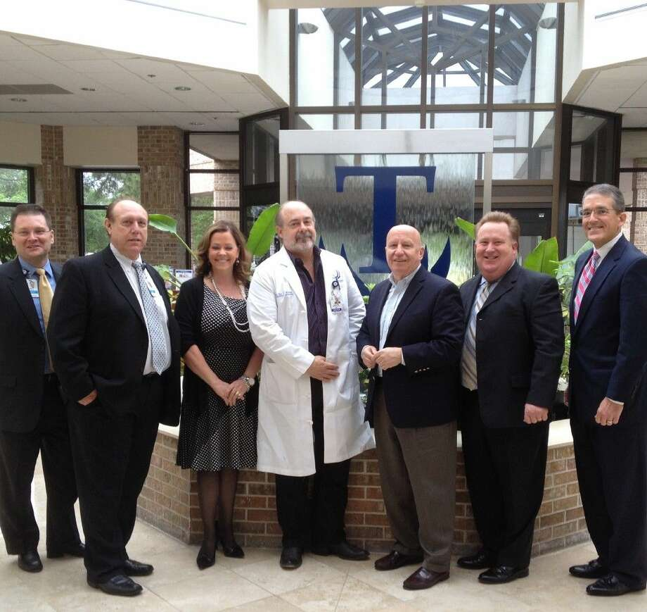 From left to right are Brett Kinman, Chief Operating Officer, TRMC; Dr. Ian Glass, Chief Medical Officer, TRMC; Sharon Ikeler, Chief Nursing Officer, TRMC; Dr. Jay Kovar, Emergency Department Medical Director, TRMC; Congressman Kevin Brady (R-Texas); Richard Ervin, Chief Financial Officer, TRMC; and Tom Jackson, Chief Executive Officer, TRMC.