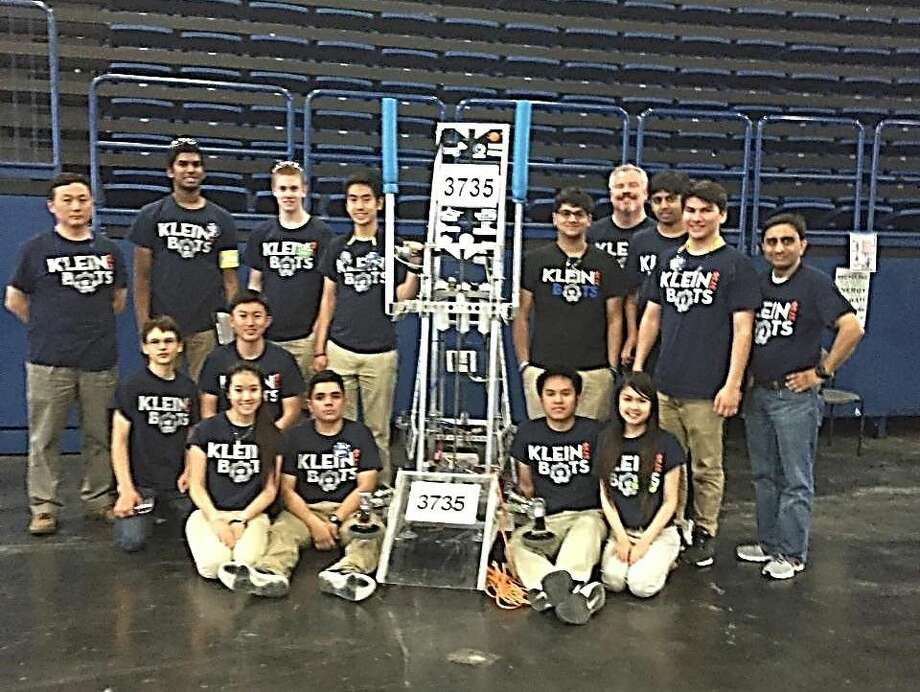 KleinBOTs prep for the World Championship set in late April. Photo: KISD
