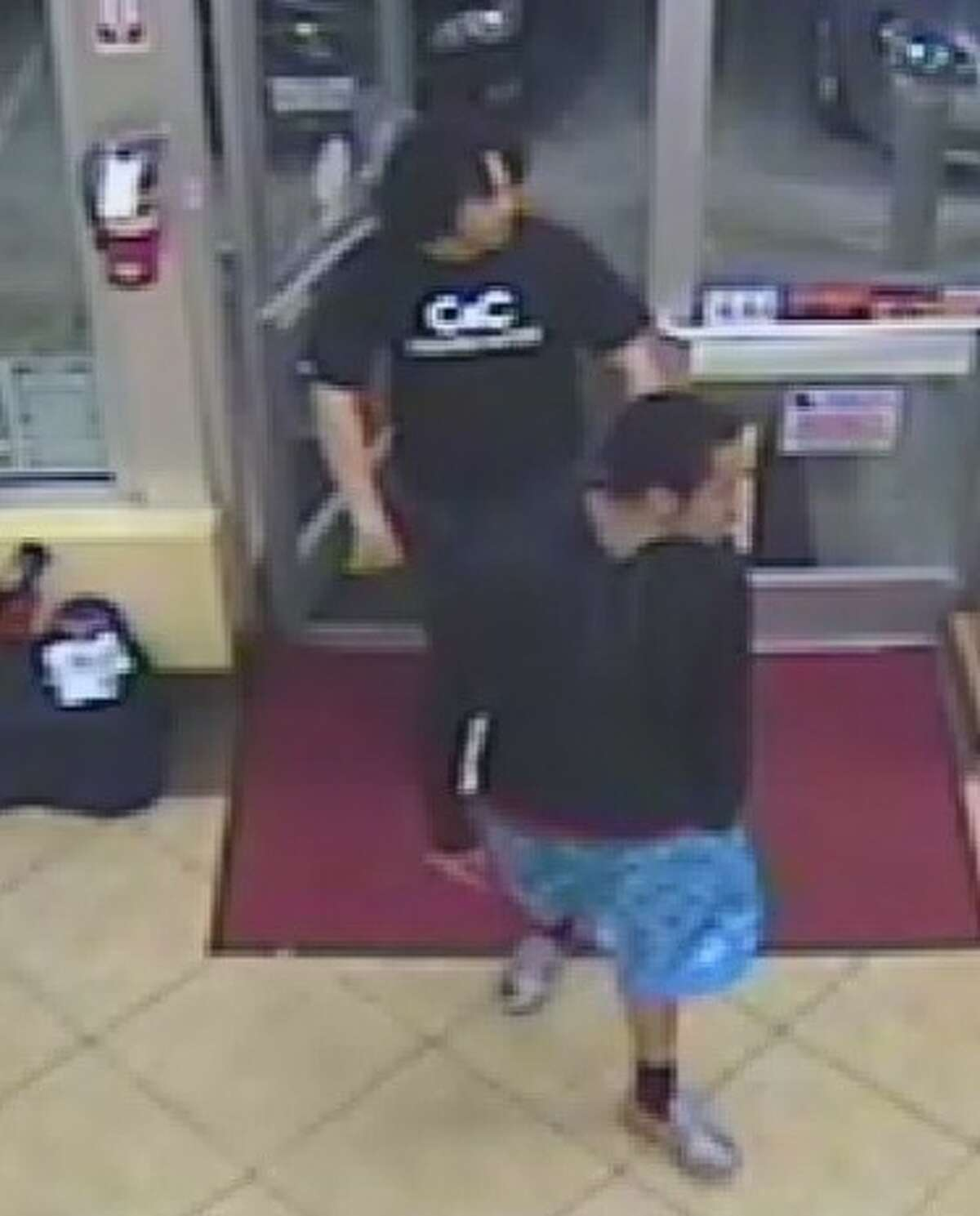 Video footage of the two suspects sought by authorites for an aggravated assault case at a Food Mart Exxon, located at 17130 Beechnut St. in the Mission Bend area, where they pulled out a gun and fired shots multiple shots at two people with whom they had a conflict.