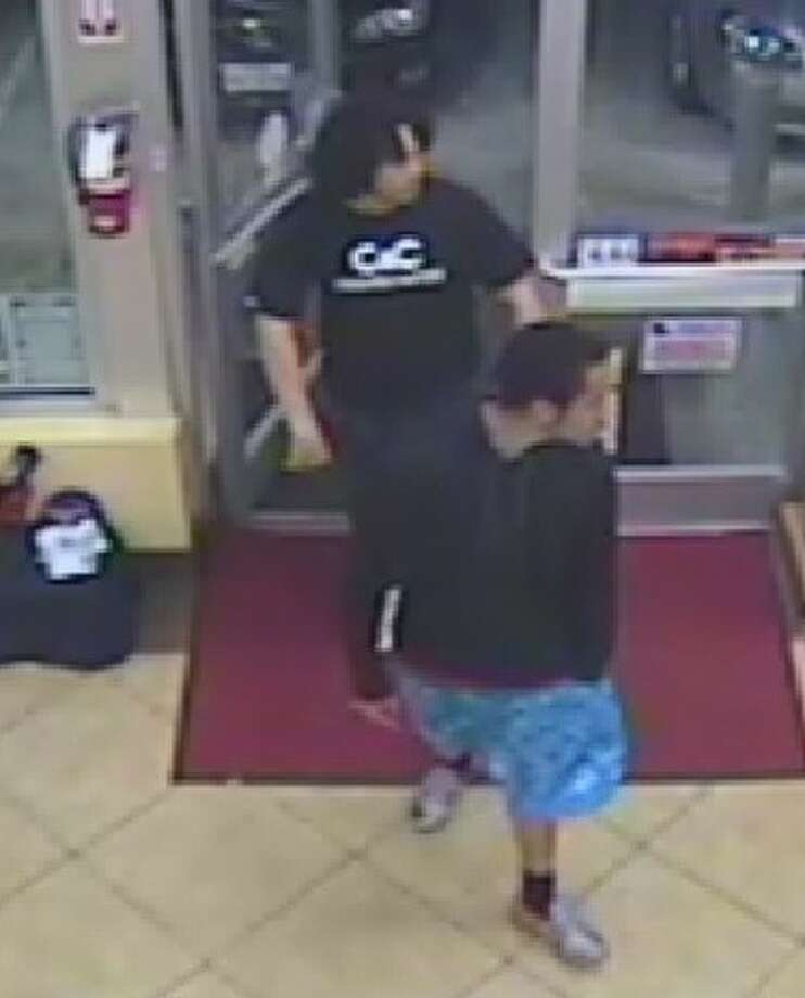 Video footage of the two suspects sought by authorites for an aggravated assault case at a Food Mart Exxon, located at 17130 Beechnut St. in the Mission Bend area, where they pulled out a gun and fired shots multiple shots at two people with whom they had a conflict. Photo: Photo Courtesy Fort Bend County Crime Stoppers