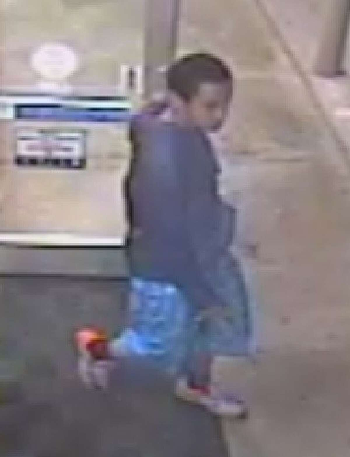Video footage of one of the two suspects sought by authorites for an aggravated assault case at a Food Mart Exxon, located at 17130 Beechnut St. in the Mission Bend area, where they pulled out a gun and fired multiple shots at two people with whom they had a conflict.