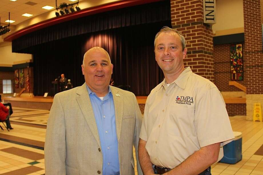 Pearland Police Officers Association President Det. John DeSpain and Vice President Det. Jon Albin.