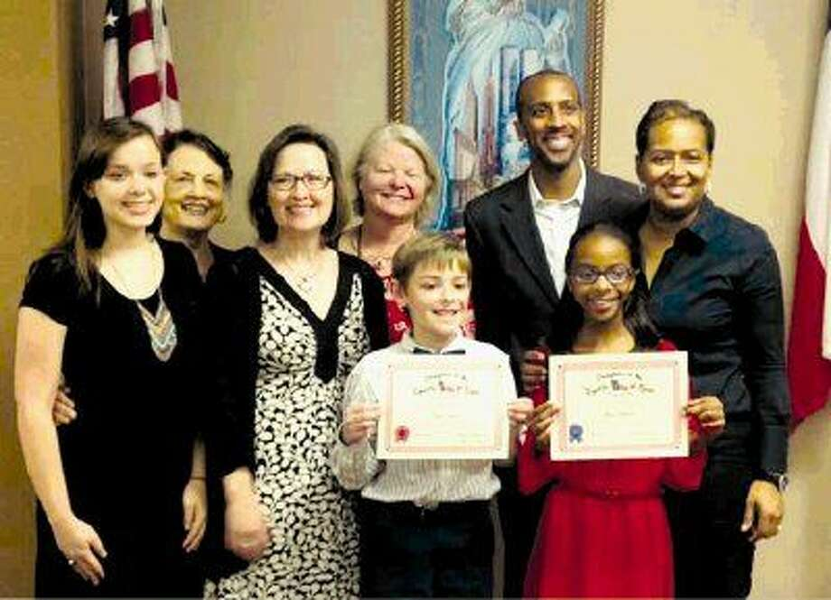 Maia Richard, a fourth grade student at Humble Christian School, is the local first place winner and Ryan Hopson is the second place fourth grade winner of the annual Daughters of the Republic of Texas District VI Texas History Essay Contest.