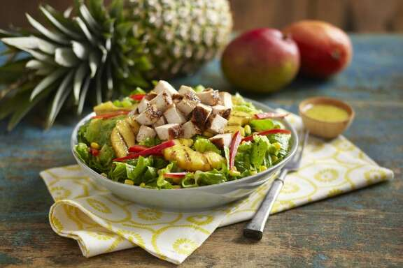 Pollo Tropical's menu centers on its signature citrus-marinated grilled chicken and also includes Mojo Roast Pork, Calypso Beef and Grilled Tropical Wings and made-from-scratch sides like rice, beans, yuca and sweet plantains.
